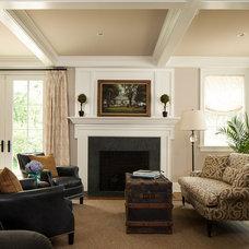 Traditional Living Room by Cushing Custom Homes, Inc.