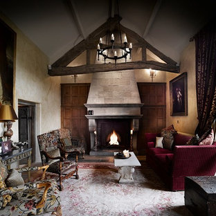 Large baronial fireplace