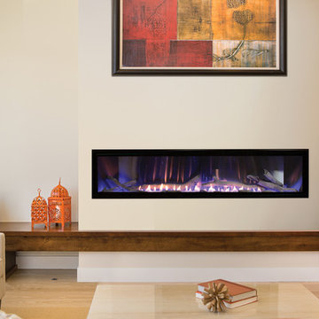 Large Modern Gas Fireplace