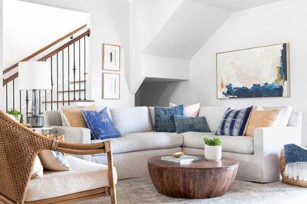 Coastal Living Room by Lark Interior