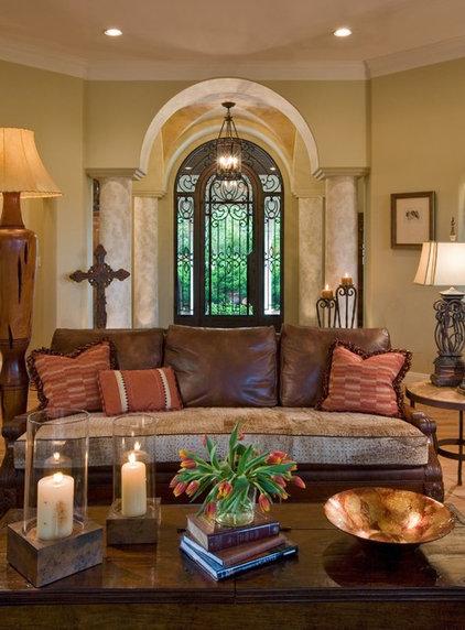 Mediterranean Living Room by Susie Johnson Interior Design, Inc.
