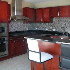 Contemporary Living Room by P. Scinta Designs, LLC