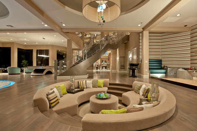 Contemporary Living Room by David Marquardt Architectural Photography