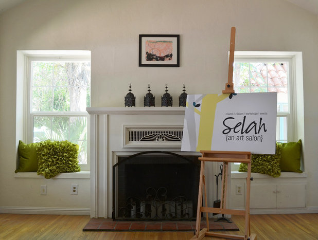 Simple Traditional Living Room by Sarah Greenman