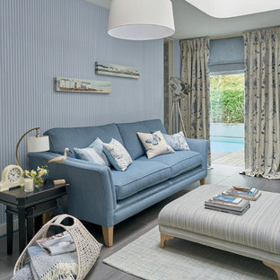 Design ideas for a nautical living room in London.