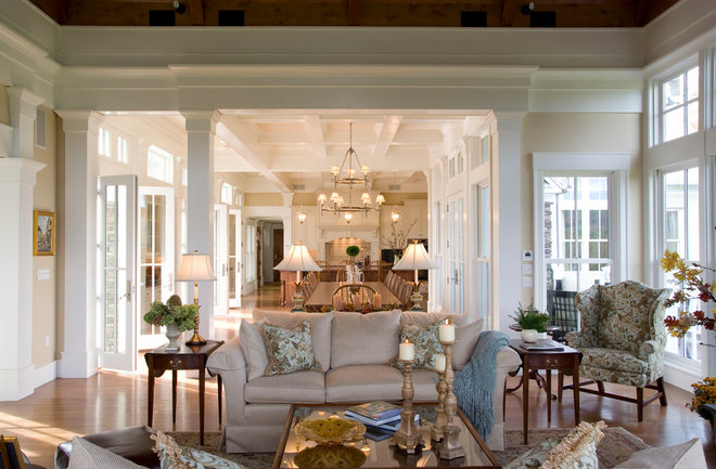 Traditional Living Room by Beyond Ordinary Boundaries Architecture