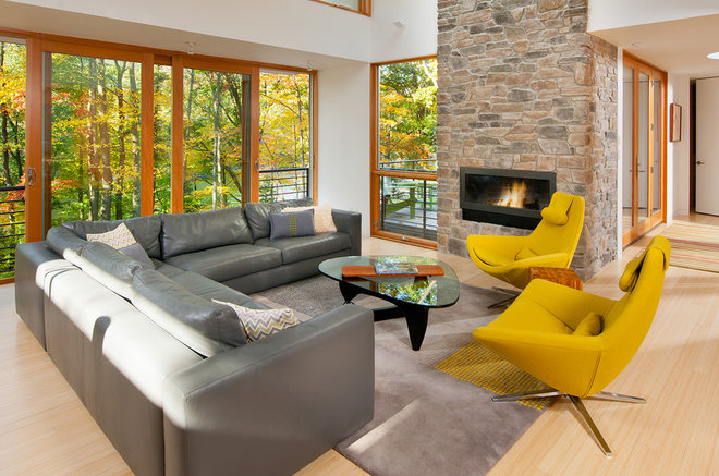 Contemporary Living Room by Gosnell Builders