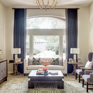 Inspiration for a transitional formal living room remodel in Phoenix with beige walls