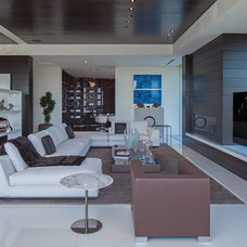 Contemporary Living Room by Guerin Design + Development