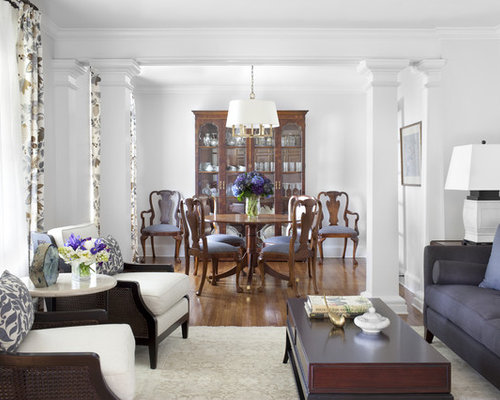 Inspiration For A Timeless Enclosed Living Room Remodel In Atlanta With White Walls