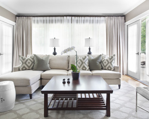 Elegant Living Room Photo In Atlanta With Gray Walls