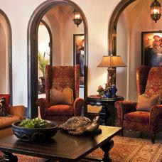 Mediterranean Living Room by Lawanna Wood Designs