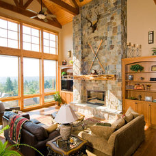 Eclectic Living Room by Riverland Homes Inc