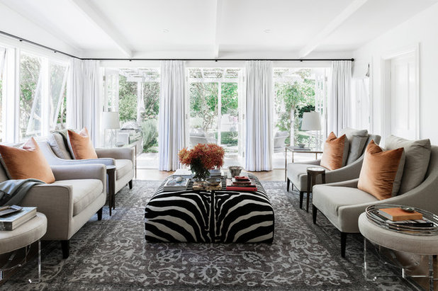 Transitional Living Room by Studio Kate