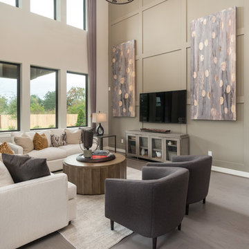 League City, Texas | Victory Lakes - Premier Rosewood Living Room