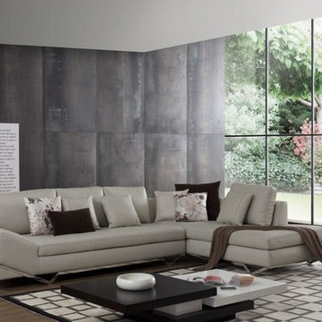 Leather Sectional Sofas with Built in iPhone Dock&Speakers