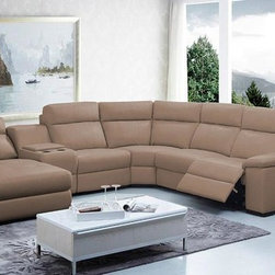 Leather Sectional Sofas with Recliners - Features: