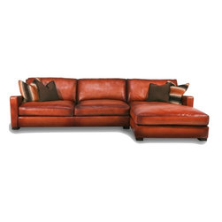Leather Sectionals - We carry only the highest quality top grain leather furniture available.