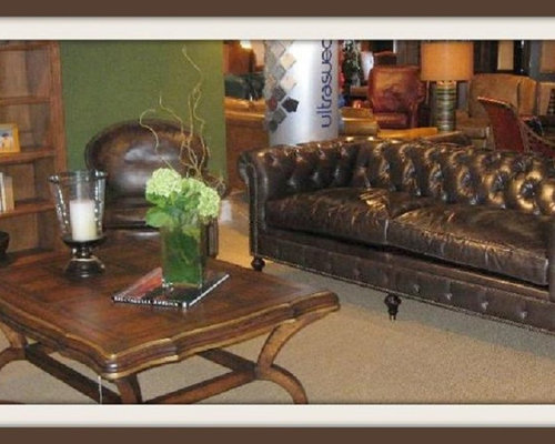 distressed leather furniture - Distressed Leather Sofa