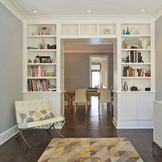 Transitional Living Room by Besch Design, Ltd.