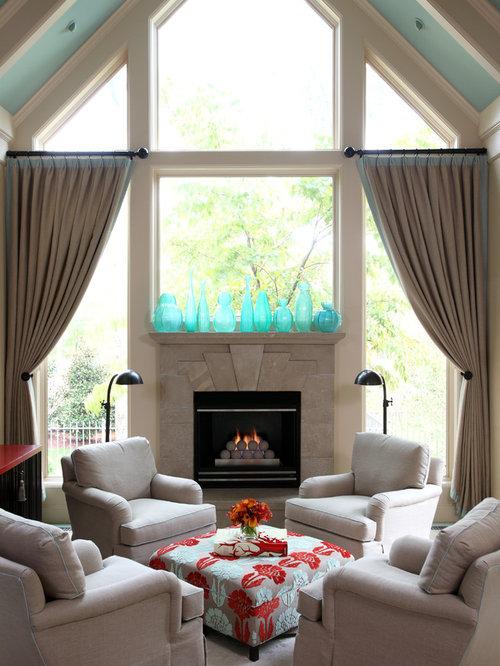 Window Above Fireplace Houzz