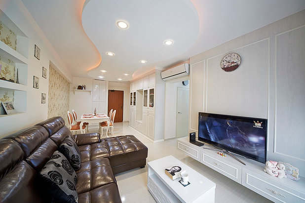 Rustic Living Room by LED Light Singapore