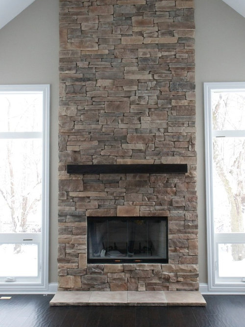 Ledgestone Fireplace Houzz