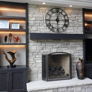 Ledge Stone Veneer Fireplaces