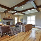 Barrel Vaulted Ceiling Traditional Living Room