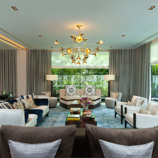 Photo of a contemporary living room in Singapore.