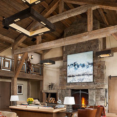 Rustic Living Room by Montana Reclaimed Lumber Co.