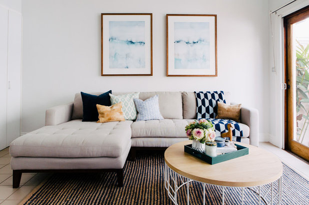 Transitional Living Room by Emma Blomfield