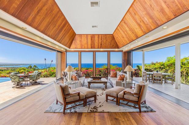 Tropical Living Room by Juniper Hill Furniture & Design