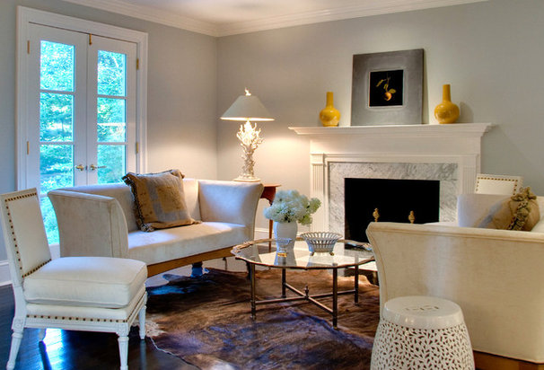 Traditional Living Room by Leslie Hayes Interiors