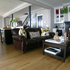 Eclectic Living Room by Distinctive Designs in Cabinetry, LLC