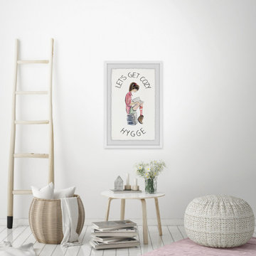 """""""Let's Get Cozy Hygge"""" Framed Painting Print"""