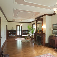 Traditional Living Room by Dedham Cabinet Shop, Inc.