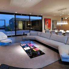 Contemporary Living Room by Process Design Build, L.L.C.