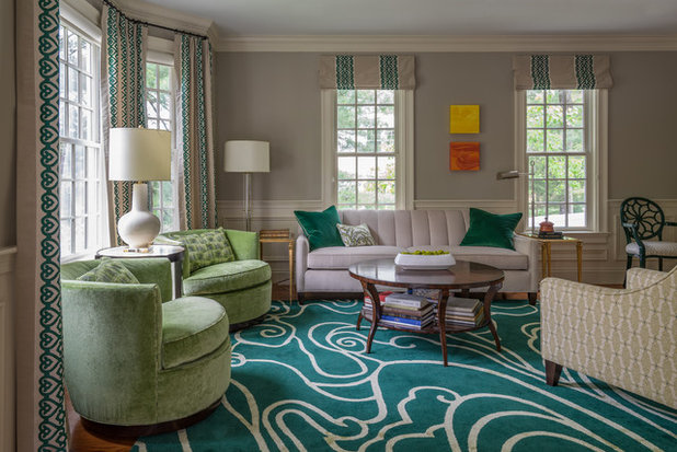 Transitional Living Room by Kelly Rogers Interiors