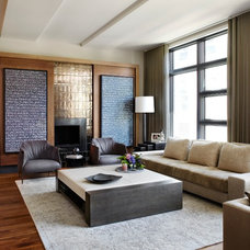 Contemporary Living Room by LG Construction + Development