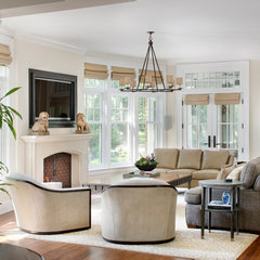 traditional living room by LG Construction + Development