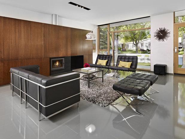 Modern Living Room by thirdstone inc. [^]