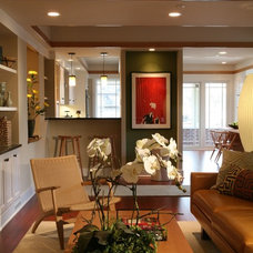 Traditional Living Room by Sarah Susanka, FAIA