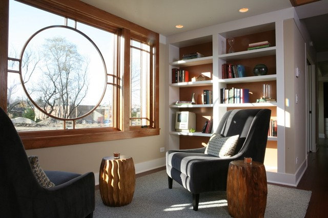 living room by Sarah Susanka, FAIA