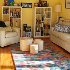 Eclectic Living Room Library