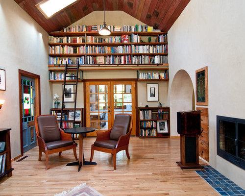 shelves living room. Elegant living room library photo in Portland High Shelves Living Room Ideas  Photos Houzz