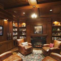 traditional living room by Old World Kitchens & Custom Cabinets