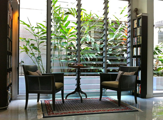 Tropical Living Room by Froglet Moss