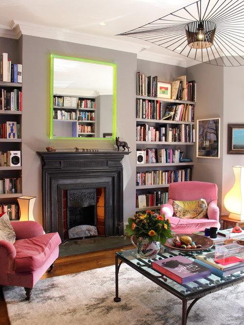 Eklektische wohnzimmer mit marmorboden ideen design houzz - Marmorboden wohnzimmer ...