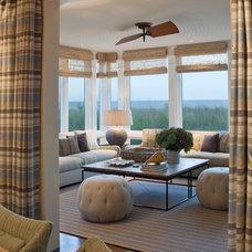 Beach Style Family Room by Dwayne Van Horn, AIA